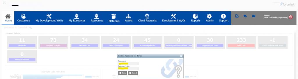 Entering your new Forcelink login details